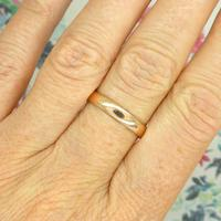 English Antique 9ct Rose Gold Wedding Band 1920's (7 of 10)