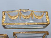 19thc Antique French Gilt Bronze Ormolu & Cut Crystal Desk Set - Letter Rack Holder, Pen / Note Tray & Pot (7 of 17)