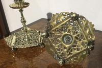 Pair Victorian Brass Candlesticks Townsend (2 of 5)