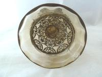 19th Century Bohemian / Moser ? Large Covered Goblet with Filigree Metalwork Overlay (4 of 11)