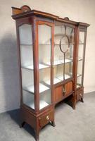 Edwardian Carved Mahogany Display Cabinet / China Cabinet (4 of 13)