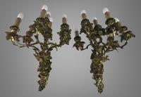 Pair of Stunning Huge 7 Arm French Rococo Style Gilt Bronze Wall Lights Sconces (3 of 9)