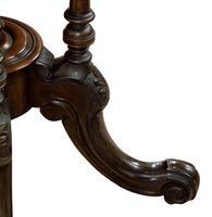 Oval Inlaid Walnut Loo Table on Quadruple Base (2 of 8)