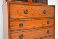 Antique Inlaid Mahogany Secretaire Bureau Bookcase (11 of 11)
