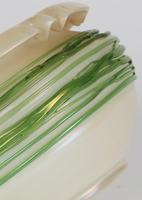 Palme König Attributed Art Nouveau Green Trailed Thread Iridescent Art Glass Vase (13 of 14)