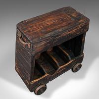 Antique Industrial Machinist's Truck, English, Trolley, Kitchen, Wine, Victorian (7 of 12)