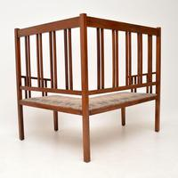 Antique Arts & Crafts Solid Walnut Corner Settee from Liberty of London (3 of 11)