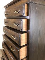 Early 20th Century Antique Oak Narrow Chest of Drawers (10 of 11)