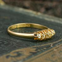 The Antique 1921 Old Cut Five Diamond Ring (2 of 8)