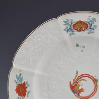Chelsea Porcelain Kakiemon Damask'd Plate Coiled Phoenix c.1754 (5 of 7)