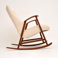 1960's Dutch Vintage Mahogany Rocking Chair (3 of 9)