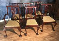 Set of six Edwardian Mahogany Dining Chairs (3 of 11)