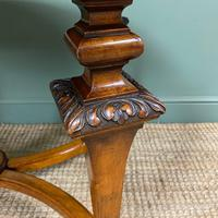 Magnificent Victorian Figured Walnut Antique Centre Table (2 of 9)