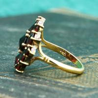 The Vintage Stepped Garnet Cluster Ring (3 of 5)