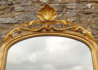 Large Antique French Arched Gilt Mirror of Unusual Size (6 of 8)