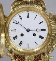 French Rococo Style Brass & Gilt Mantel Clock by Japy Freres (3 of 10)