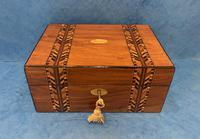 Victorian Walnut Inlaid Jewellery Box (3 of 12)