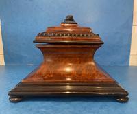 Victorian Burr Cedar & Ebony Shaped Tea Caddy (5 of 20)