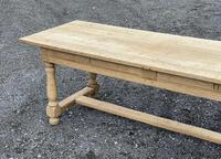 Large Bleached Oak Farmhouse Dining Table with Extensions & Storage (15 of 35)