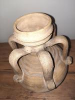 C.12th Century A.d.seljuk Unglazed Terracotta 6 Handled Jug (6 of 7)