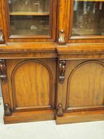Victorian Mahogany Breakfront Cabinet Bookcase (16 of 19)