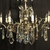Italian Silver & Crystal Genoa 8 Light Chandelier (7 of 10)