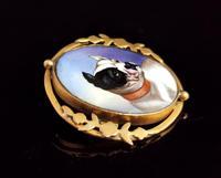 Victorian Enamel Bulldog Brooch (6 of 11)