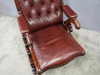 William IV Mahogany and Burgundy Leather Armchair (4 of 12)