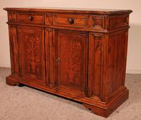 Italian Credenza In Walnut And Pear Wood Inlays - 17th Century (3 of 13)