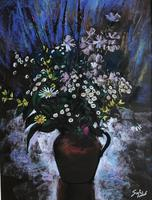 Original Pastel 'Summer flowers' By Aubrey Sykes. P.P.P.S. 1910-1995. Signed. c.1975. Framed (2 of 2)
