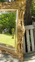 Gilded Rococo Style Wood Mirror Bevelled Glass 1900 (10 of 12)