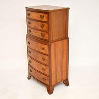 Burr Walnut Chest on Chest of Drawers c.1930 (3 of 9)