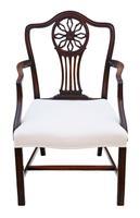 Set of 8 (6+2) Georgian Mahogany Dining Chairs c.1820 (3 of 10)