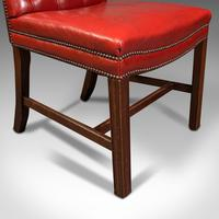 Set Of 10 Antique Gainsborough Chairs, English, Leather, Carver, Edwardian, 1910 (12 of 12)