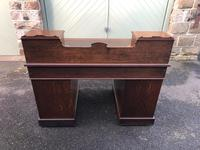 Antique Oak Pedestal Writing Desk (Pri) (2 of 13)