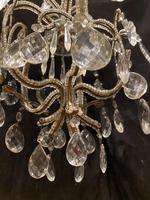 One Light Small Antique Italian Beaded Chandelier (11 of 11)