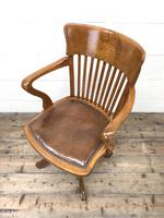 Early 20th Century Antique Swivel Desk Chair (7 of 10)