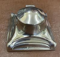 Art Nouveau Silver Inkwell