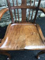 Antique Mahogany Windsor Style Country Armchair (4 of 7)