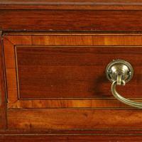 Victorian Mahogany & Satinwood Pedestal Desk (5 of 8)