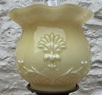 Tall 19thc Art-nouveau Primrose Yellow & Pink Twin Burning Duplex Table Oil Lamp (3 of 12)