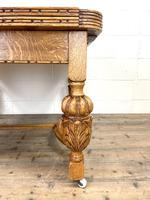 Antique Oak Draw Leaf Dining Table (3 of 10)