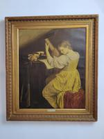 'The Lute Player' 20th Century Oil on Canvas (2 of 7)