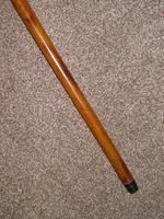 Victorian Hallmarked 1891 Silver Malacca Walking Stick 92cm (5 of 11)