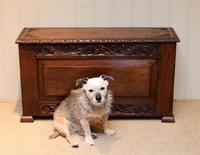 Solid Oak Carved Coffer (3 of 9)