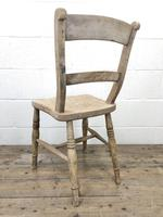 Pair of Antique Bar Back Farmhouse Kitchen Chairs (8 of 8)