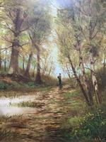 'John Williamson' Superb Woodland Landscape Oil Painting (4 of 11)