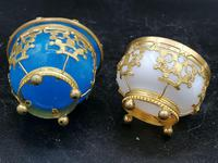 Palays Royale Pair of Boxes in Blue Opaline & Golden Brass Frame (4 of 5)