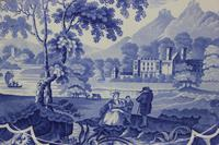 Antique Blue & White Pearlware Parkland Scenery Platter (3 of 12)