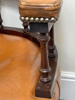 Charming Traditional Victorian Style Tan Brown Office Captains Bankers Chair (11 of 42)